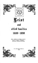 Leist and Allied Families  1690 1990