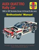 Audi Quattro Rally Car Enthusiasts  Manual