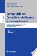 Computational Collective Intelligence  Technologies and Applications