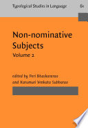 Non-nominative Subjects