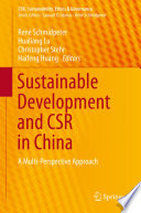 Sustainable Development and CSR in China Book
