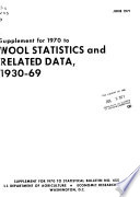 Wool Statistics and Related Data  1930 1969