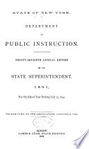 Annual Report of the State Superintendent of Public Instruction