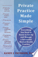 Private Practice Made Simple Book