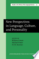 New Perspectives In Language Culture And Personality