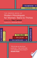 The Oberon Book Of Modern Monologues For Women Teens To Thirties