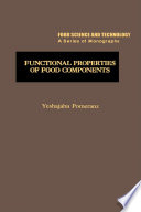Functional Properties of Food Components Book