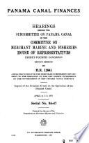 Panama Canal finances