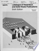 Catalogue Of Hazardous And Solid Waste Publications