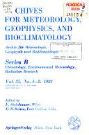 Archiv F  r Meteorologie  Geophysik und Bioklimatologie