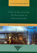 Code of Practice for the Selection of Subcontractors