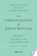 Correspondence of Jeremy Bentham, Volume 3
