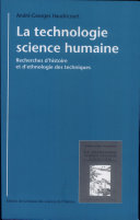 La technologie, science humaine