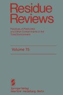 Residue Reviews Pdf/ePub eBook