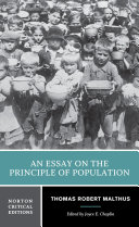 Pdf An Essay on the Principle of Population (Norton Critical Editions) Telecharger