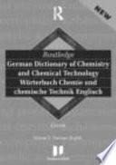 Langenscheidt Routledge German Dictionary of Chemistry and Chemical Technology: German-English, Deutsch-Englisch