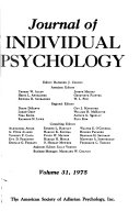 Journal of Individual Psychology
