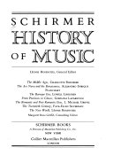 Schirmer History of Music Book PDF