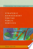 Strategic Management For The Public Services Book PDF