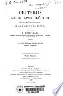 Criterio médico-psicológico para el diagnóstico diferencial de la pasión y la locura