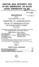 Agriculture  Rural Development  Food and Drug Administration  and Related Agencies Appropriations for 2002  Agricultural programs