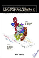 Folding and Self assembly of Biological Macromolecules
