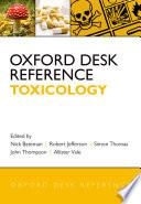 Oxford Desk Reference  Toxicology