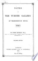 Notes on the Turner Gallery at Marlborough House, 1856-7