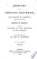 Memoirs Of The Princess Daschkaw Book