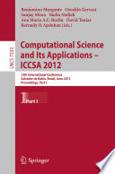 Computational Science and Its Applications    ICCSA 2012 Book