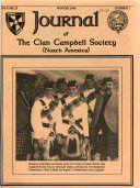 Journal of the Clan Campbell Society  United States of America   Book