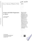 Grants And Debt Forgiveness In Africa
