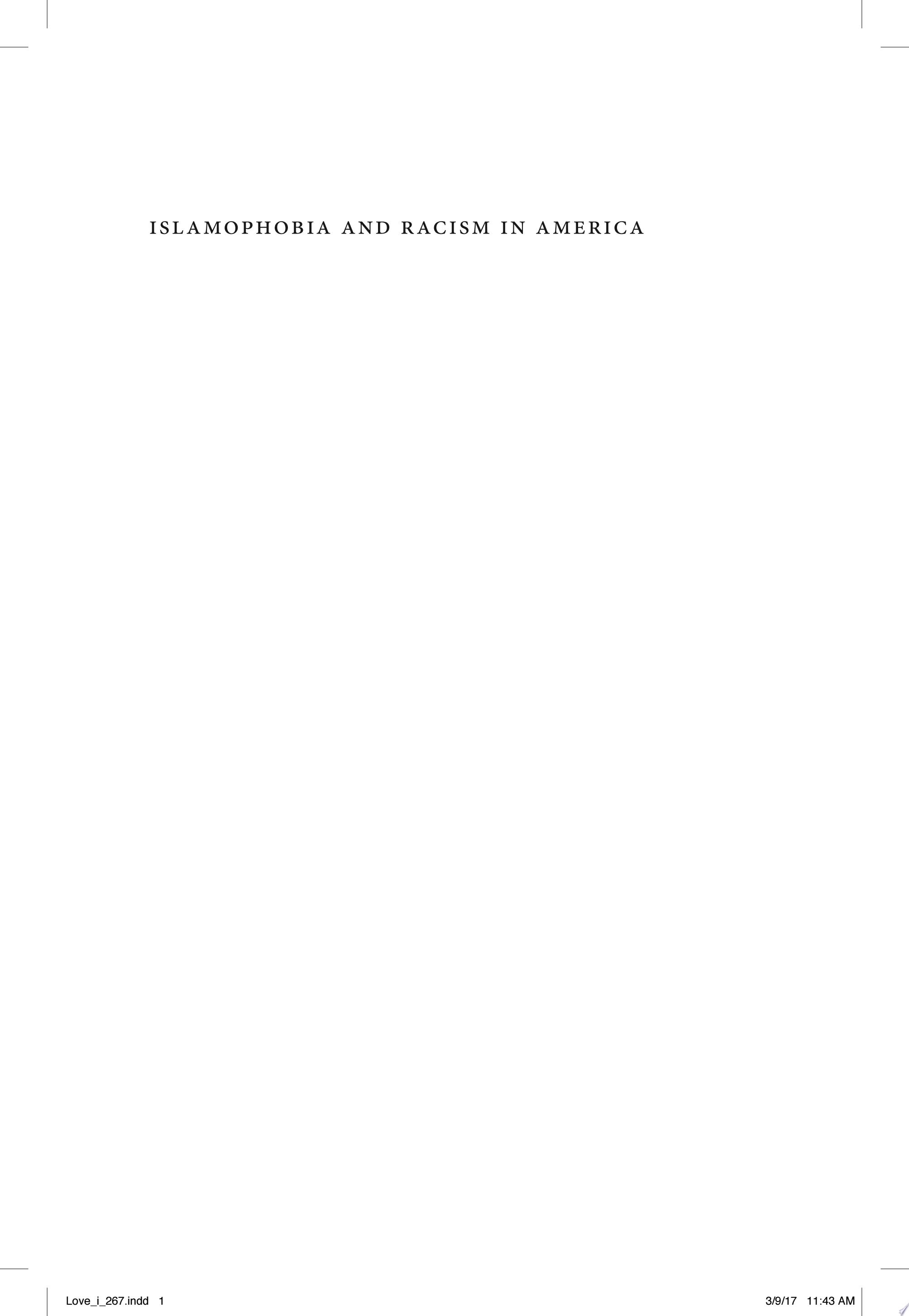 Islamophobia and Racism in America