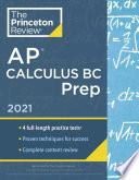 Princeton Review AP Calculus BC Prep 2021