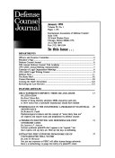 Defense Counsel Journal