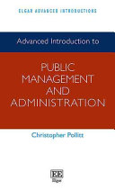 Cover of Advanced Introduction to Public Management and Administration