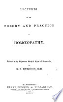 Lectures on the Theory and Practice of Homoeopathy Book