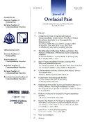 Journal of Orofacial Pain