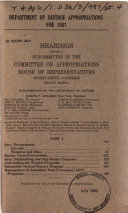 Department of Defense Appropriations for 1987