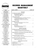ARMA Records Management Quarterly