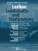Pdf Lexikon — Landschafts- und Stadtplanung / Dictionary — Landscape and Urban Planning / Dictionnaire — Paysage et urbanisme / Diccionario — Paisaje y urbanismo Telecharger