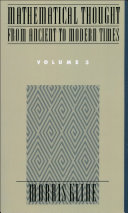 Mathematical Thought From Ancient to Modern Times: Volume 3