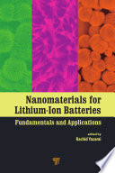 Nanomaterials for Lithium Ion Batteries Book