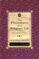 The Pleasantness of a Religious Life Book