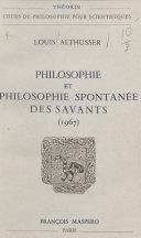 Philosophie et philosophie spontanée des savants ebook