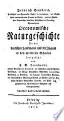 Oeconomische Naturgeschichte für den deutschen Landmann und die Jugend in in den mittleren Schulen