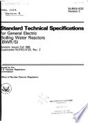 Standard Technical Specifications for General Electric Boiling Water Reactors (BWR/5).