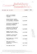 Radio Liberty Research Bulletin Book
