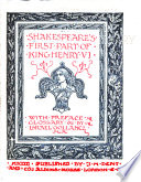 Shakespeare's First Part of King Henry VI.
