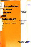 International Polymer Science and Technology Book